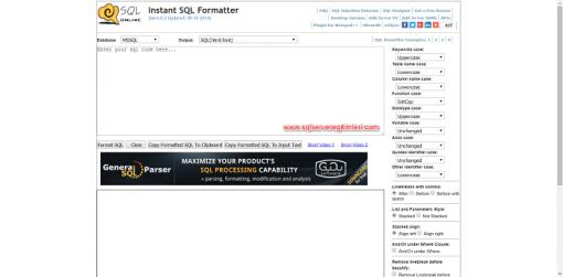 SQL Server Formatter