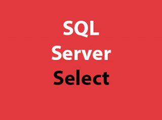 SQL Server Select