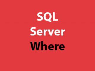 SQL Server Where