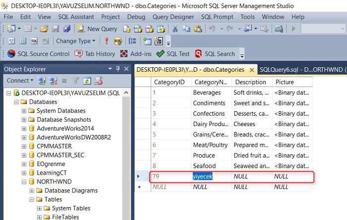 SQL Server'da IDENTITY Kolonuna Başlangıç Değeri Atamak