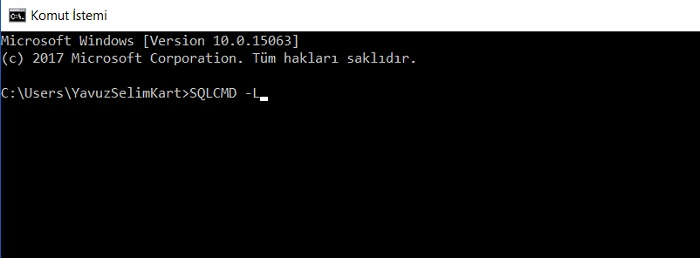 SQL Server'da Server Name Bulmak