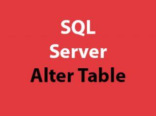 SQL Server Alter Table