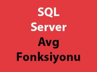 SQL Server Avg Fonksiyonu