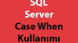 SQL Server Case When Kullanımı