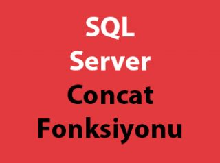 SQL Server Concat Fonksiyonu