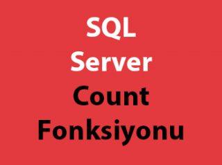 SQL Server Count Fonksiyonu