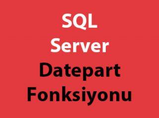 SQL Server Datepart Fonksiyonu