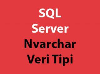 SQL Server Nvarchar Veri Tipi