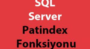 SQL Server Patindex Fonksiyonu