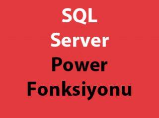 SQL Server Power Fonksiyonu