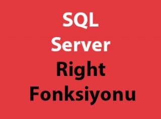 SQL Server Right Fonksiyonu