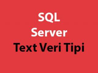 SQL Server Text Veri Tipi