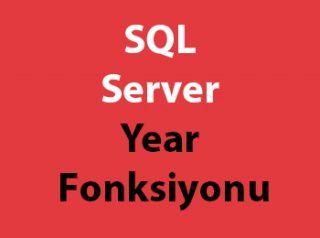 SQL Server Year Fonksiyonu