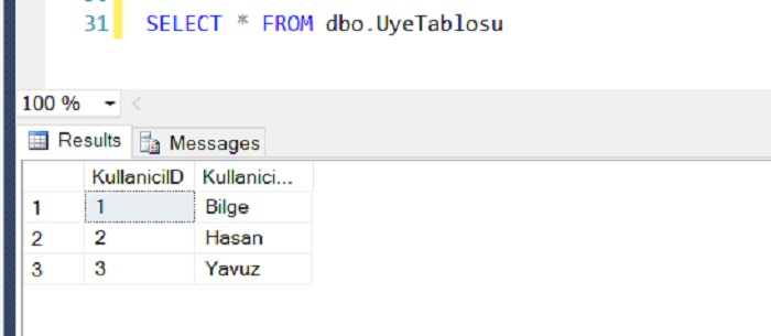 SQL Server'da IDENTITY SEED Resetlemek