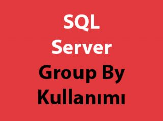 SQL Server Group By Kullanımı