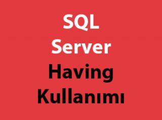 SQL Server Having Kullanımı