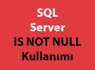 SQL Server IS NOT NULL Kullanımı
