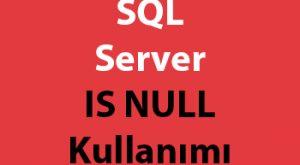 SQL Server IS NULL Kullanımı