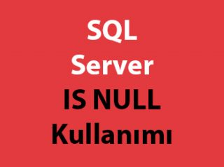 SQL Server IS NULL Kullanımı