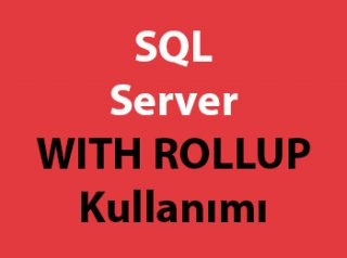 SQL Server WITH ROLLUP Kullanımı
