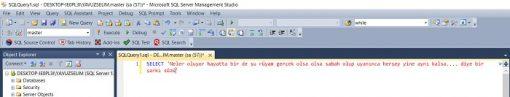 SQL Server'da Query Ekranına Sığmayan Kodları Sığdırmak