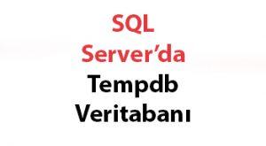 SQL Server'da Tempdb Veritabanı