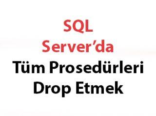 SQL Server'da Tüm Prosedürleri Drop Etmek