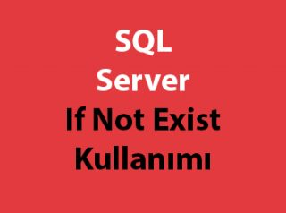 SQL Server If Not Exist Kullanımı
