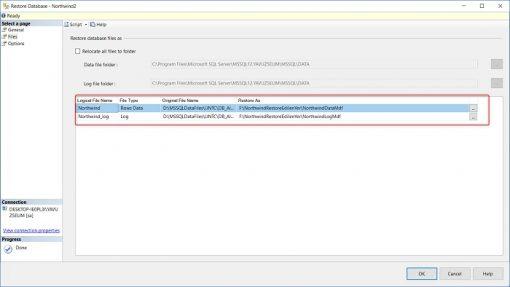 SQL Server'da Bak Dosyalarını Harici Harddiske Restore Etmek
