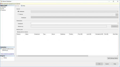 SQL Server'da Bak Dosyalarını Restore Etmek