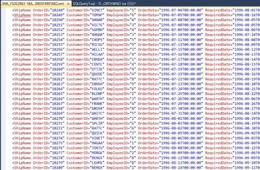 SQL Server'da Tablo Verilerini XML'e Çevirmek