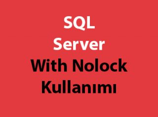 SQL Server With Nolock Kullanımı