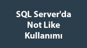 SQL Server'da Not Like Kullanımı