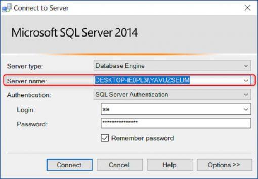 SQL Server'da Server Adını Öğrenmek