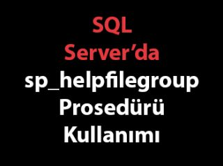 SQL Server'da sp_helpfilegroup Prosedürü Kullanımı