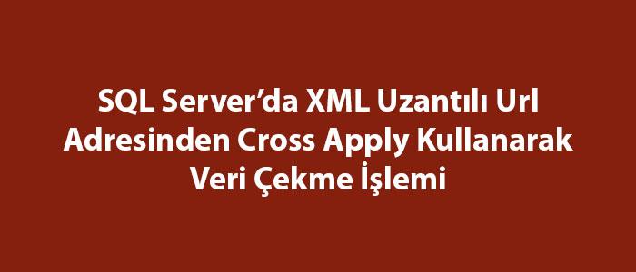 SQL Server'da XML Uzantılı Url Adresinden Cross Apply Kullanarak Veri Çekme İşlemi