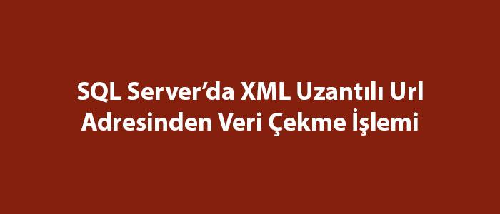 SQL Server'da XML Uzantılı Url Adresinden Veri Çekme İşlemi