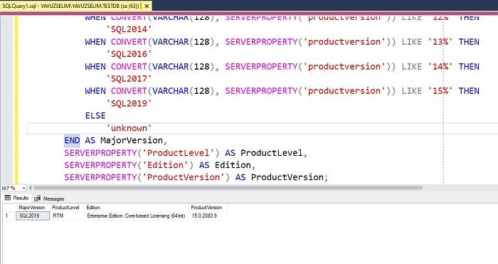 SQL Server'da Ayrıntılı Sürüm Bilgisi Nasıl Öğrenilir?