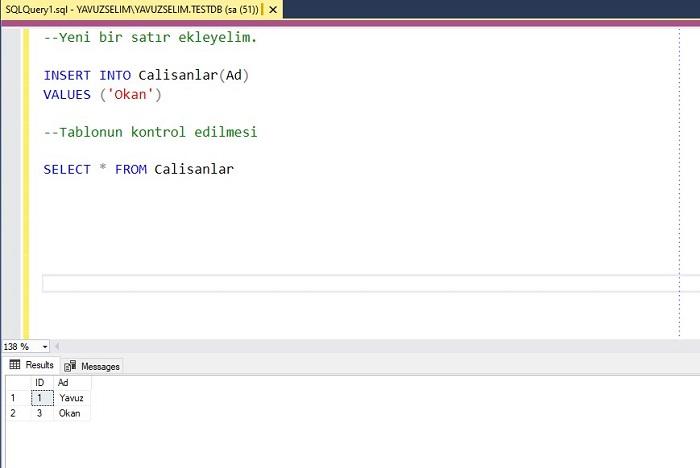 SQL Server'da Identity Kolonu Değeri Nasıl Resetlenir?